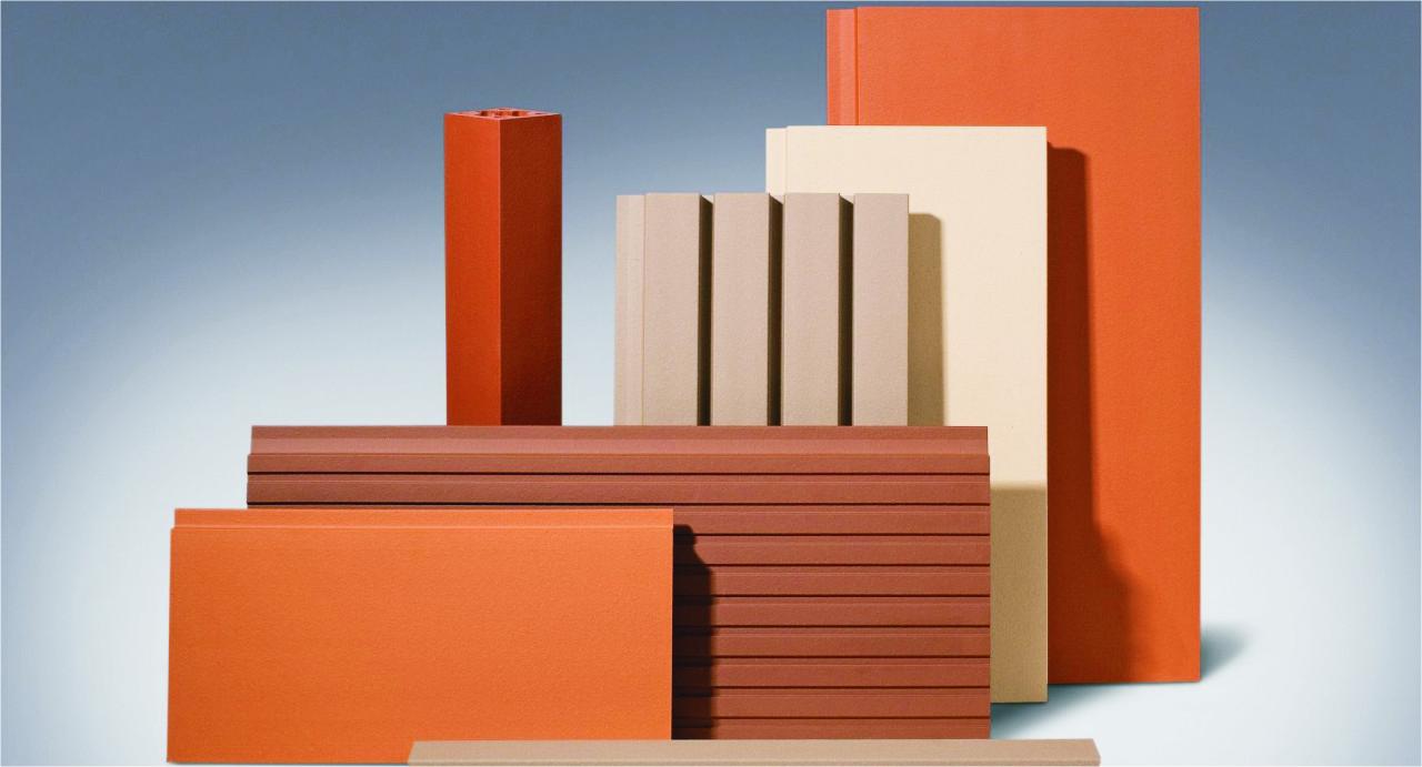 Керамические панели объединяют под собой терракотовые, клинкерные и композитные панели