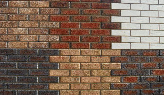Облицовка фасада плиткой. Клинкерная плитка бывает прямоугольной и квадратной