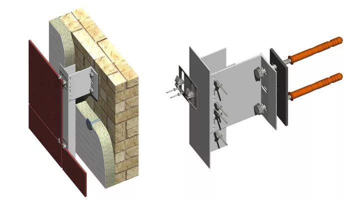 Комбинированное крепление реализуют двумя способами