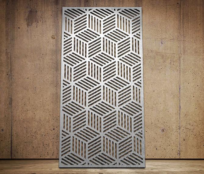 Фасадные панели с узором из алюминия.