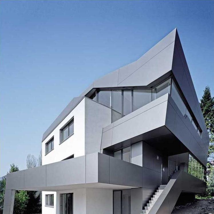 фасад с алюминиевой панелью