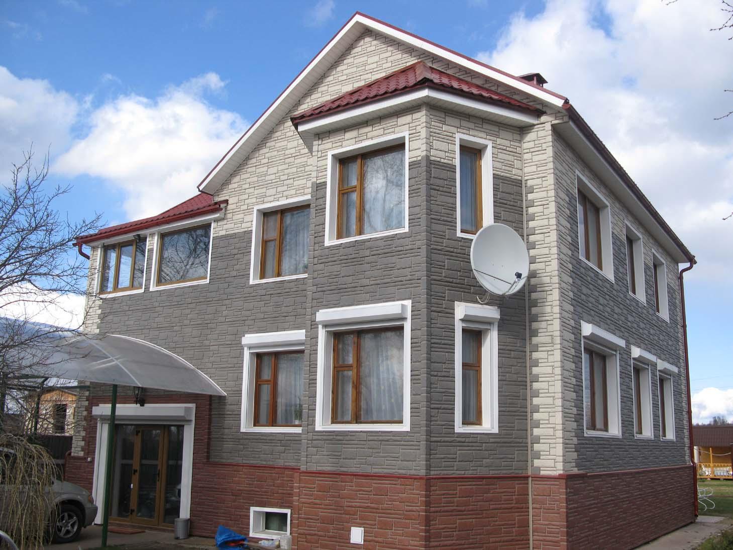 Фасадные панели деке под кирпич фото домов