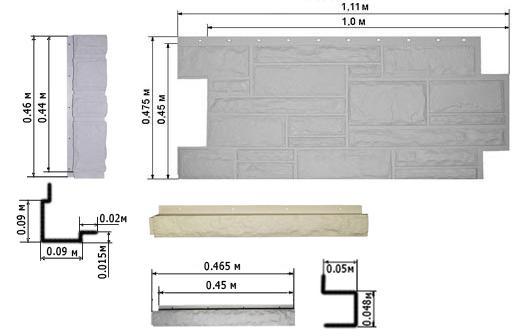 Размеры панелей для фасада