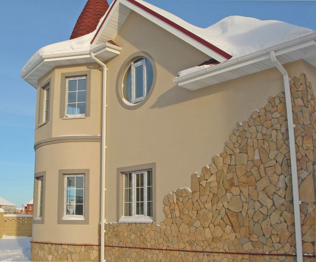 мокрый фасад частного дома