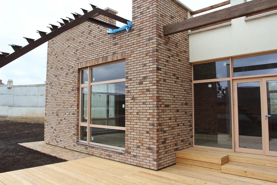 фасад дома из клинкерной плитки