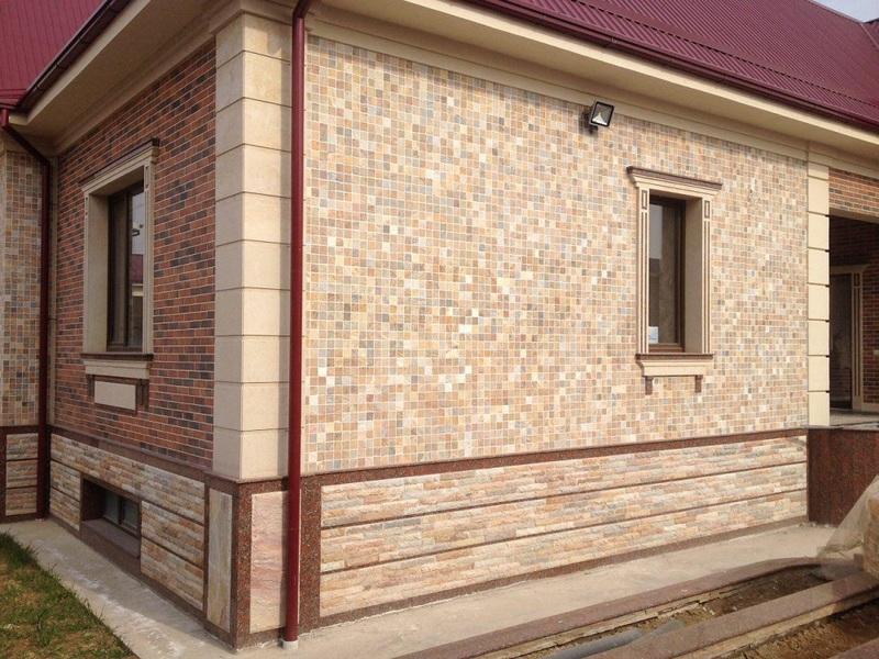 мозаика для фасада дома