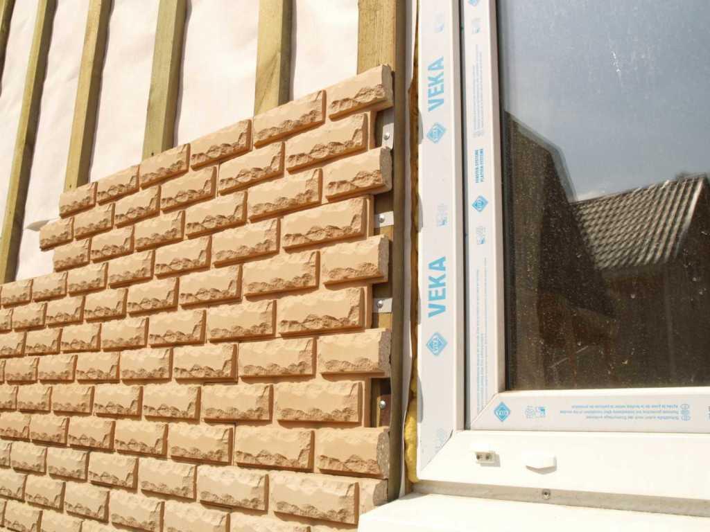 Монтаж фасадной плитки