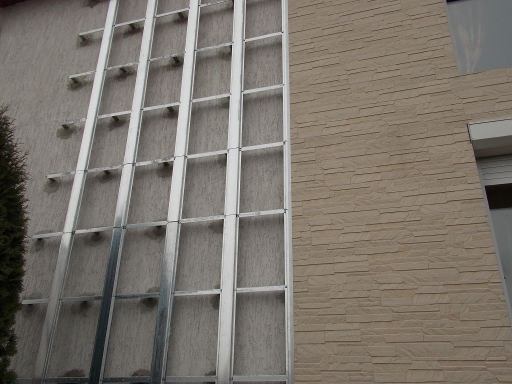 Обрешетка под фасадные панели