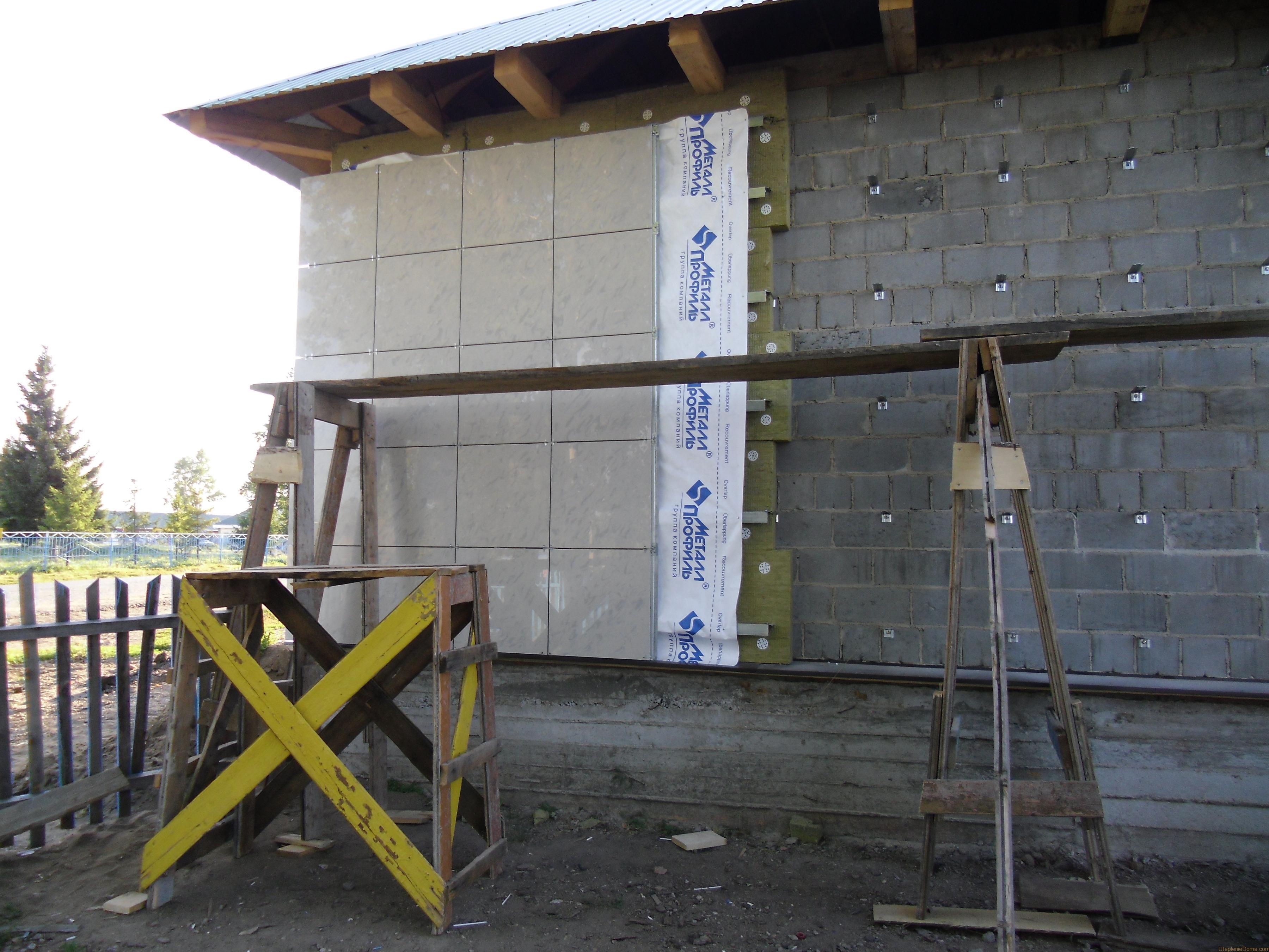 материалы для утепления фасада дома снаружи