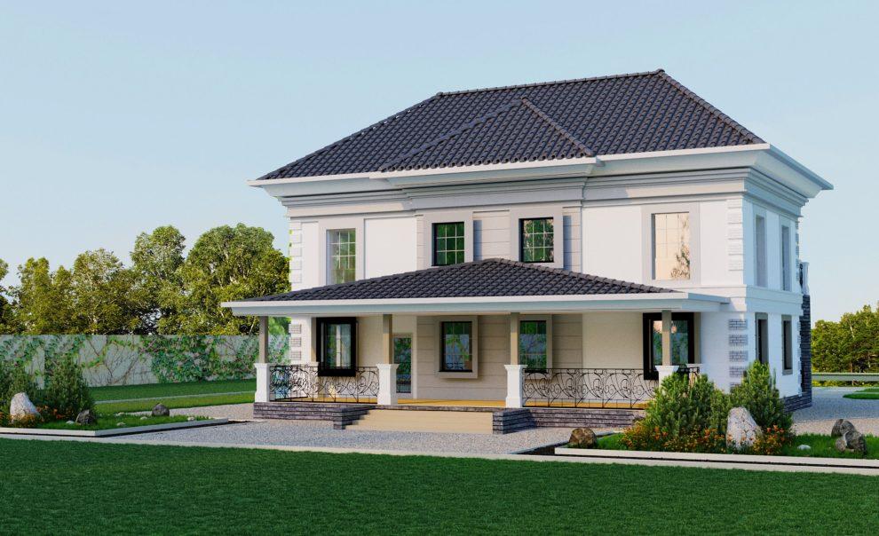Отделка фасада частного дома из газосиликатных блоков