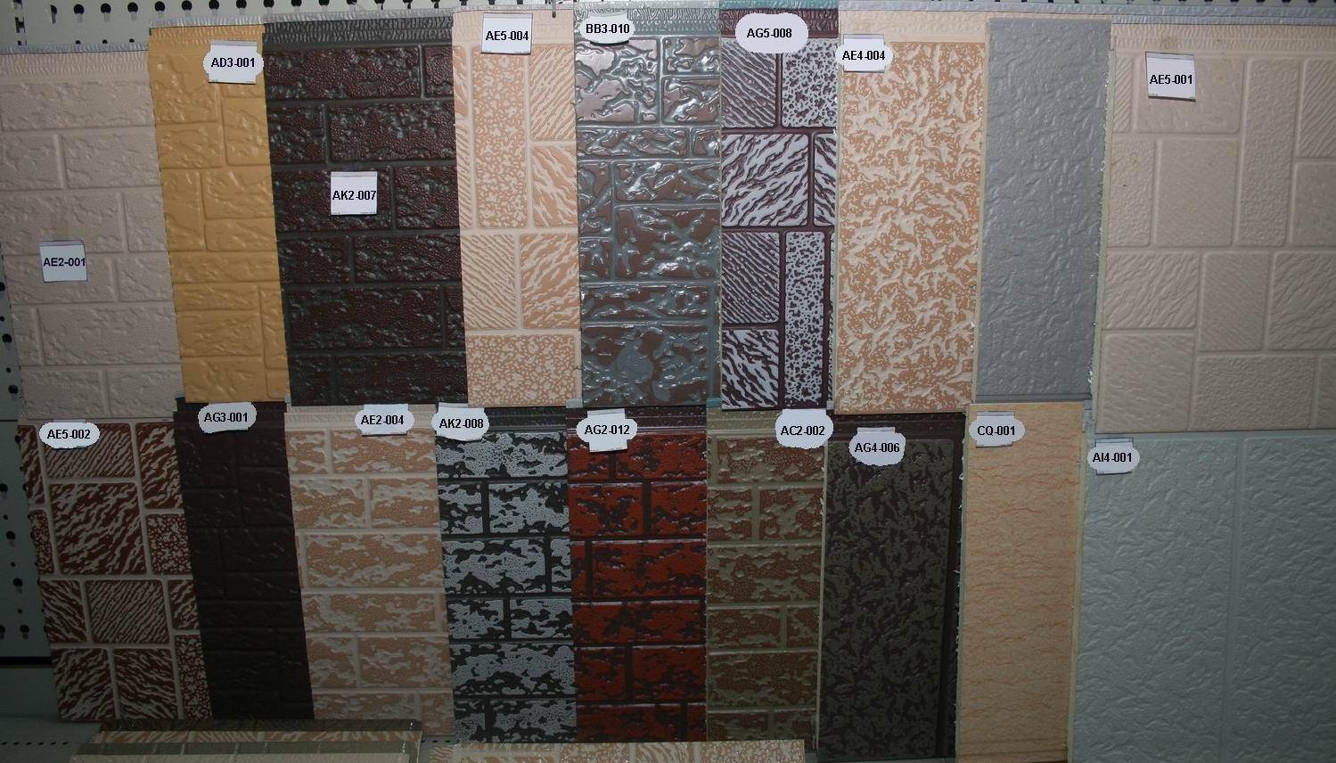 Разнообразие панелей под кирпич