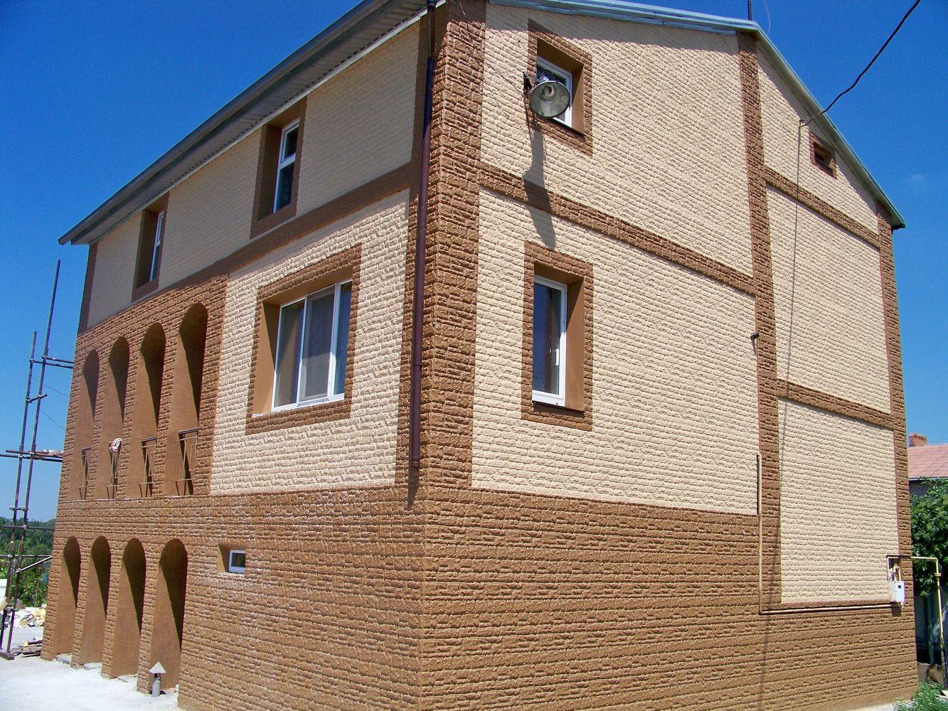 Внешний вид утепленного фасада.