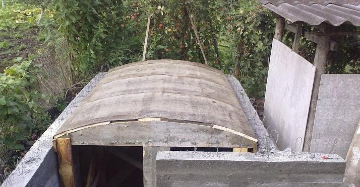 крыша для бетонного погреба