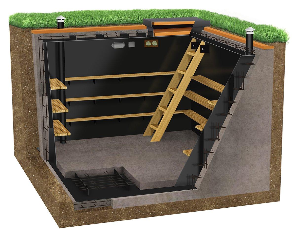 Погреб бетонный для дачи