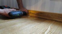 как крепить плинтус к бетонной стене