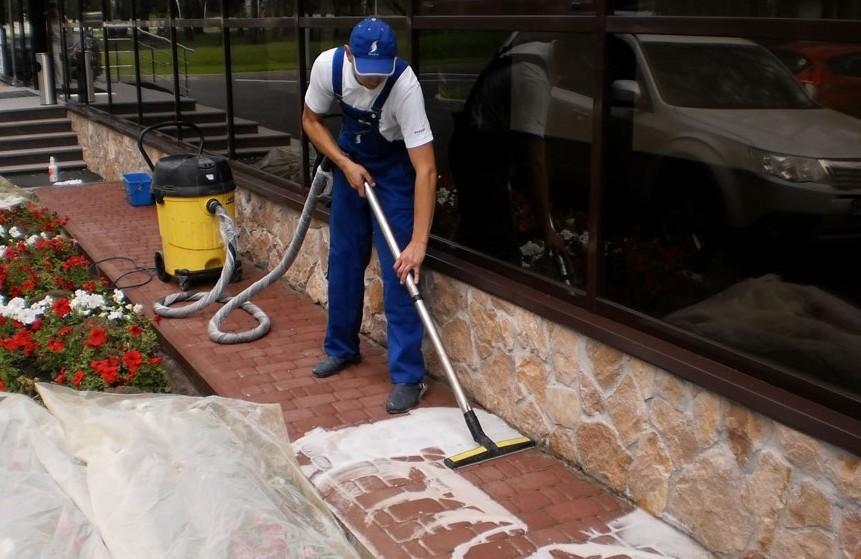 как очистить тротуарную плитку