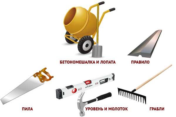 инструменты для заливки бетона
