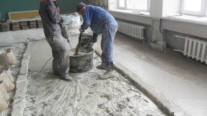 заливка пола бетоном