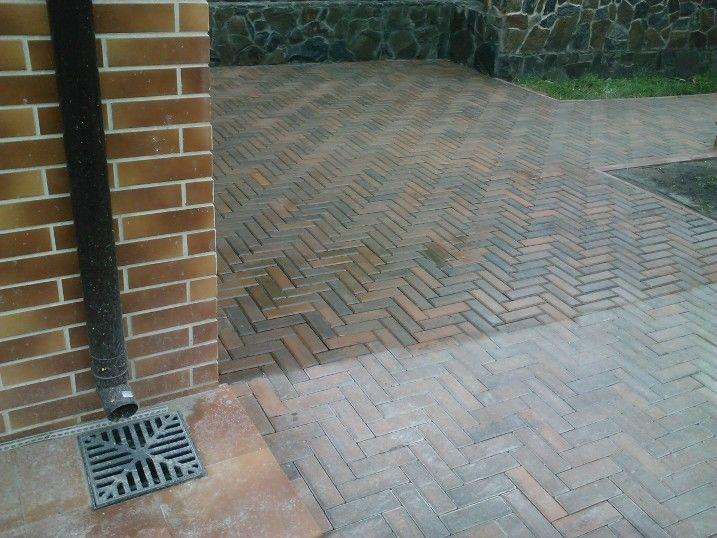как очистить тротуарную плитку от цемента